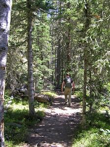 The trail ascends a short distance.............
