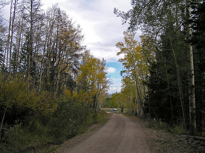 """And I made it back to the road where I saw my first """"humans"""".  Just at the start of the trail there were some people trying to decide if they wanted to walk up the trail or not (checking for some good hunting areas, I think).  I let them know that I'd seen what would appear to be good country for hunting, wished them luck, and headed down the road to my truck."""