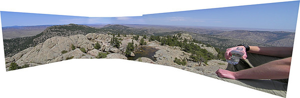Panoramic of several photos from the top of Greyrock.
