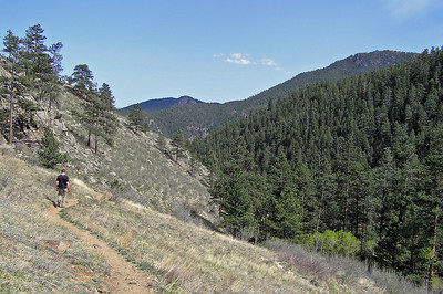 Otherwise, the trail moves fairly quickly down a series of long switchbacks to the Proudre River.