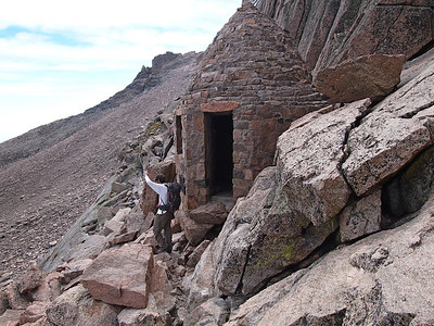 """Here is a photo of the """"hut"""" that is close to the Keyhole."""