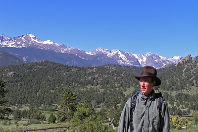 Yours truly in my normal heroric role : )  As I said, Longs Peak just seems to be the normal background for this area.