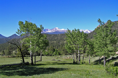 Looking at Longs Peak across the Black Canyon valley.