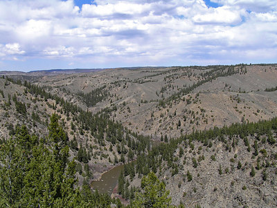 So, this is looking in the other direction.  Down the North Platte River which at this point is almost directly north.  Pretty much everything you see in the photo is in the official Platte River Wilderness Area.