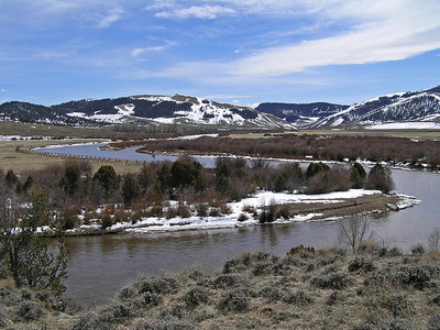 North Platte River, CO April 8, 2006.  Another view back up the river.