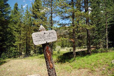 After a nice 4 mile hike (3.7 miles by the sign), I arrived at the site of the boom and bust mining town of Lulu City.