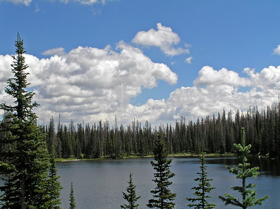 Round Mtn. Lake, Zirkel Wilderness, CO August 19, 2007.  Another photo of scenic Round Mountain Lake.
