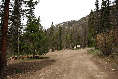 Finally got to the end of the road and the trailhead for Katherine lake.  There is room for some camping if you get here late at night.