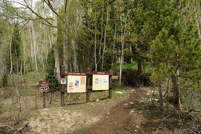 Close up of the signs.  I liked the fact that the aspens were getting some good growth.  It bode well for the trail ahead.  I hoped.