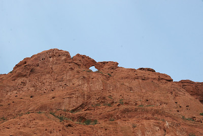 Kissing Camels from below.
