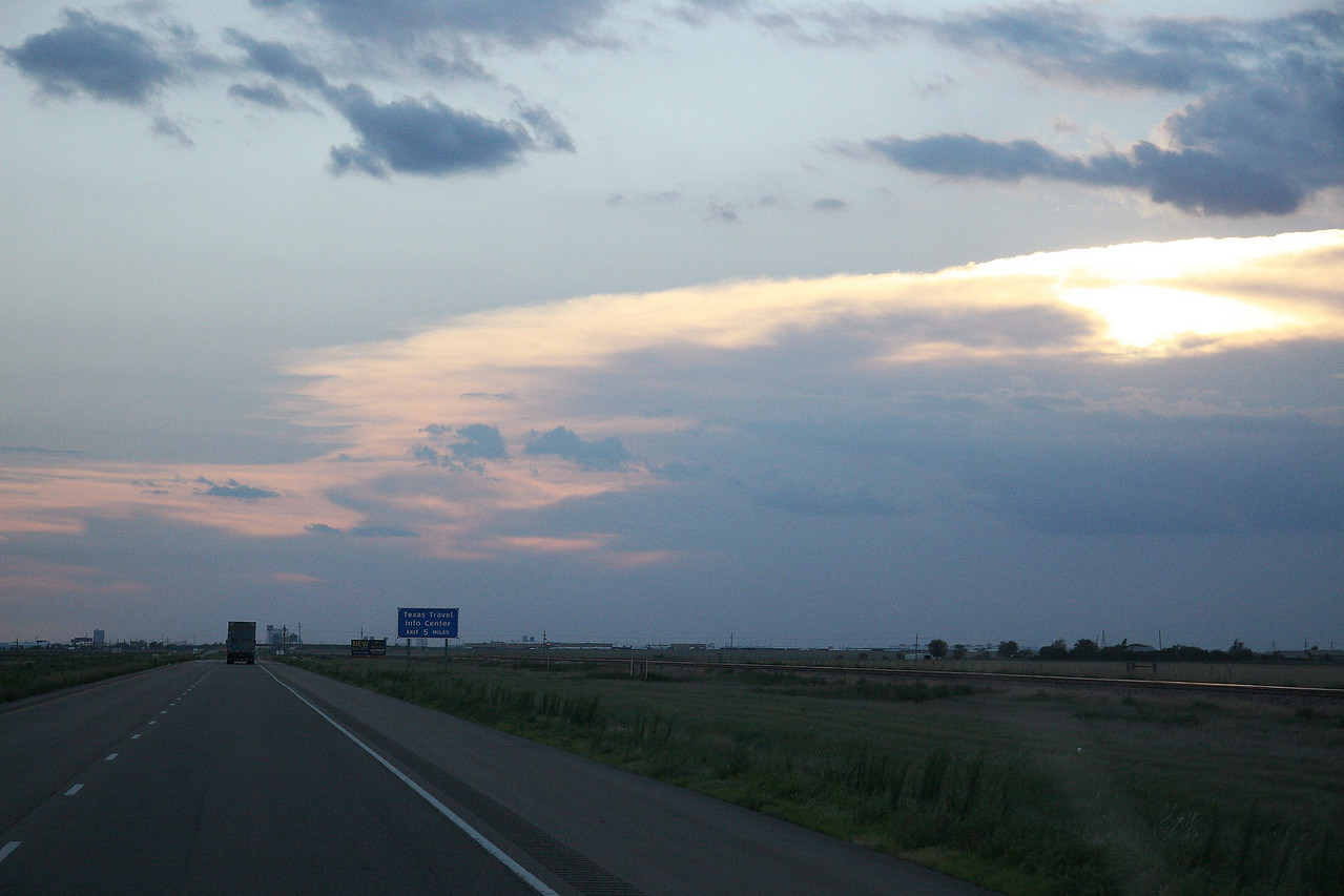 Ryan took this from the back seat of the truck coming into Amarillo.