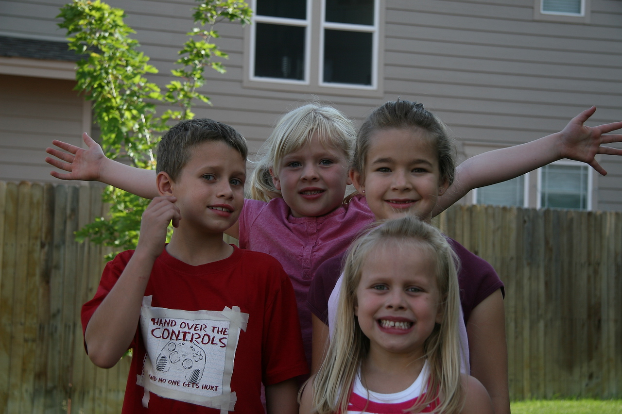 Kalie and Ryan Rinhart with Emily and Cassidy Brebner.