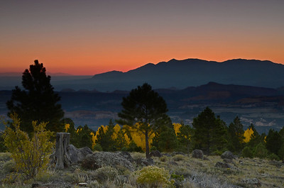 Boulder Mountain Sunrise - Dixie National Forest, Utah - Jenny Cummings - October 2012