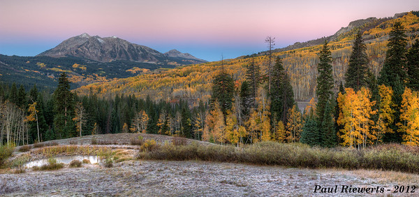 Sunrise on East Beckwith Peak - West Elk Mountains, Colorado - Paul Riewerts - September 2012