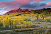 Sunset on Ruby Peak and The Dyke - Kebler Pass Road, Colorado - Dennis Krukover - September 2012