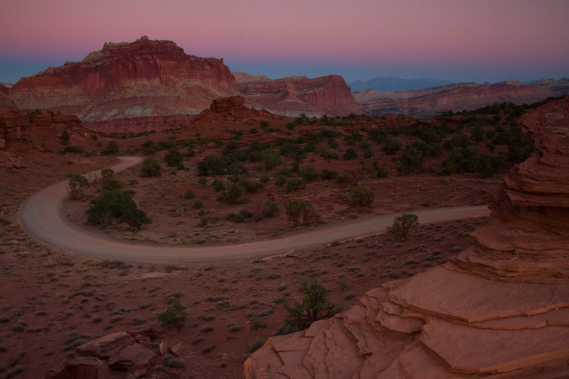 Sunset at Panorama Point - Capitol Reef National Park, Utah - D'An Holmes Glueckert - October 2012