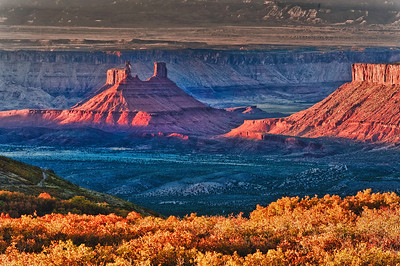 Above Castle Valley: near Moab Utah, photographed in fall.