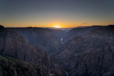 Sunset at Black Canyon of the Gunnison