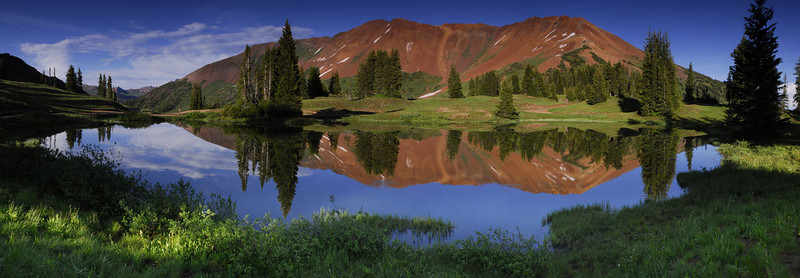 Paradise Basin near Crested Butte, Colorado - Panoramic - 6 vertical images - Doug Beezley - July 2010