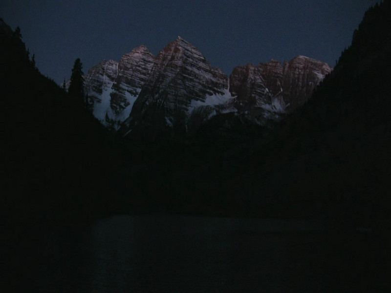 Another sunrise from the Maroon Bells area, this time with no clouds.