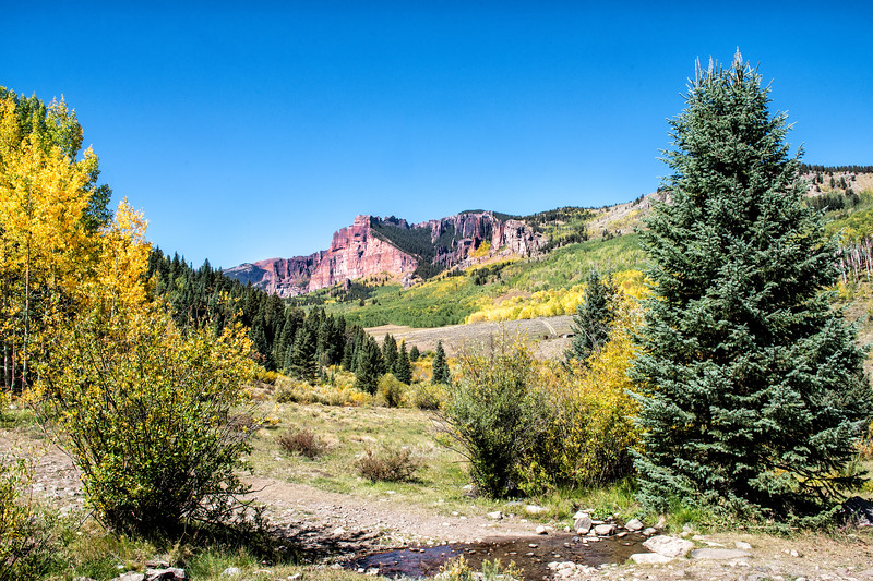 Mill Creek Valley with the Palisade Cliffs in the background - Gunnison Co., CO