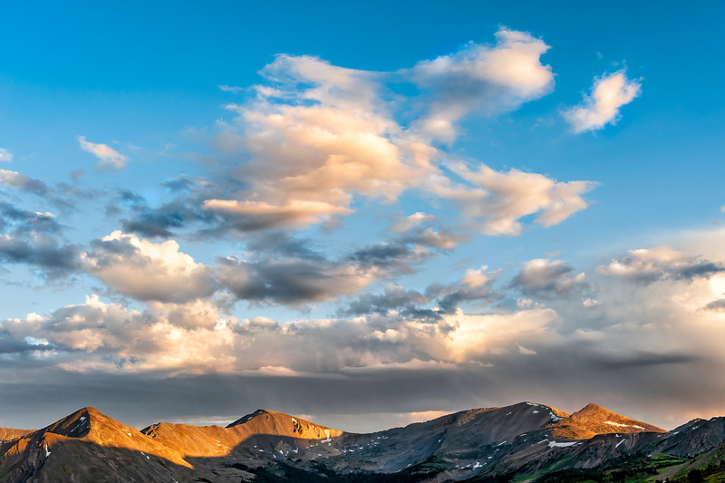 West Elk Mountains at Sunset - No 1