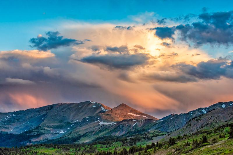 'Flaming Ridge' - West Elk Mountains at Sunset - No 3