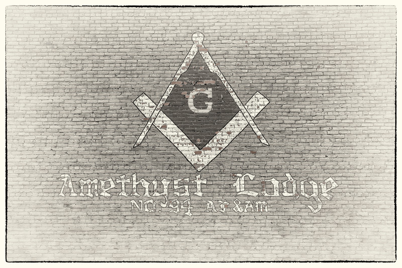 Amethyst Masonic Lodge #94 (building mural)
