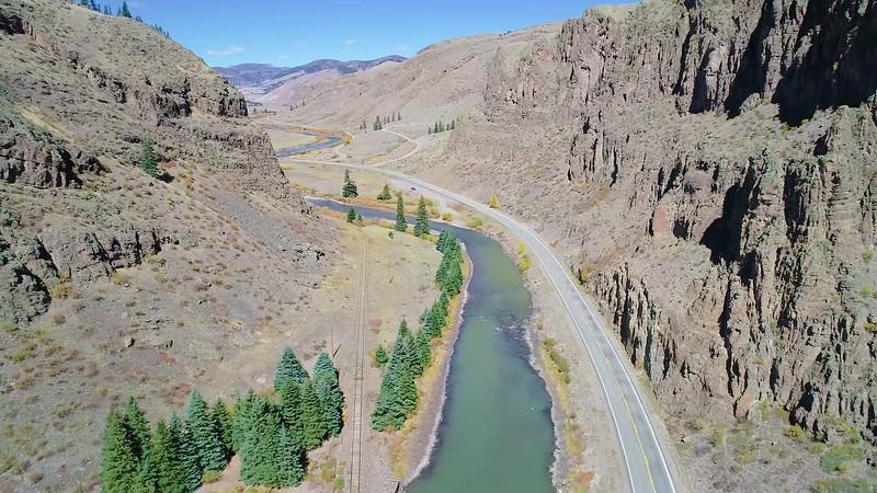 Wagon Wheel Gap - With the Rio Grand River, the Rio Grand & Denver RR, and CR 149 (The Silver Tread) - Creede, Mineral Co., CO