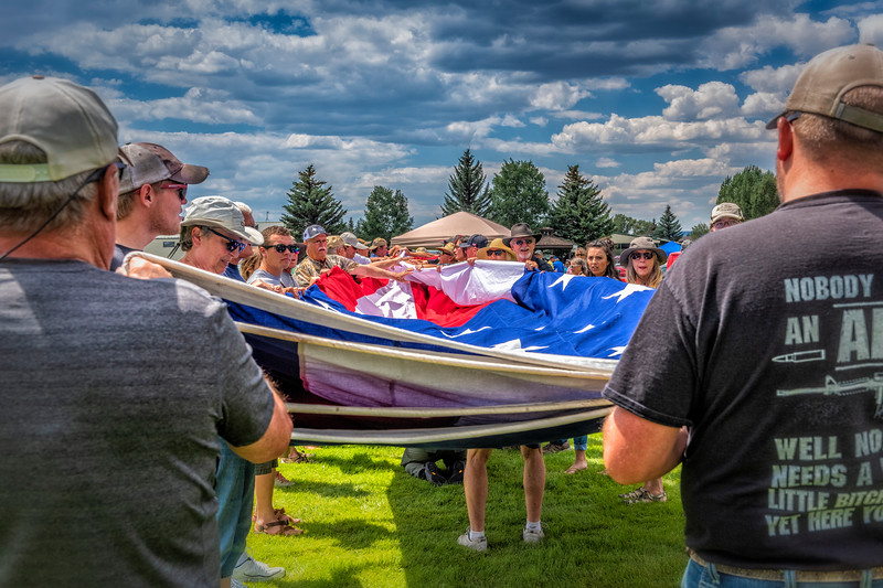 'Touching the Glory' - Folding the Flag at the 2019 Gunnison Car Show