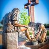"""""""Divine Servant"""" ® - A bronze sculpture by Max Greiner, Jr. Designs © - The Coming King Sculpture Garden - Kerrville, TX"""
