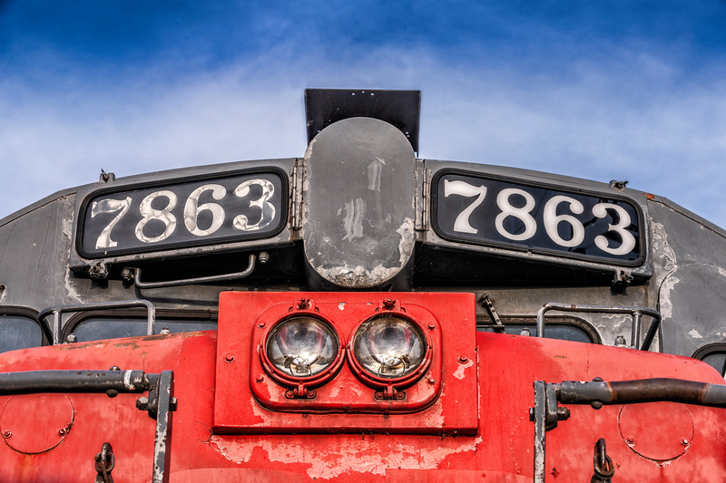 'The Business End' - D&RG RR Engine No. 7863 (Detail)