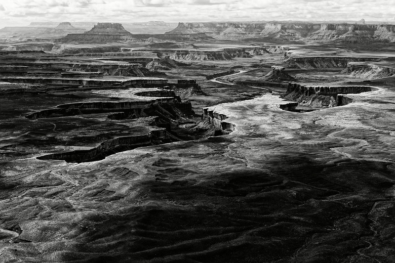 Paysage du secteur d'Island in the Sky à l'intérieur de Canyonlands National Park. Plateau du Colorado/Utah/USA