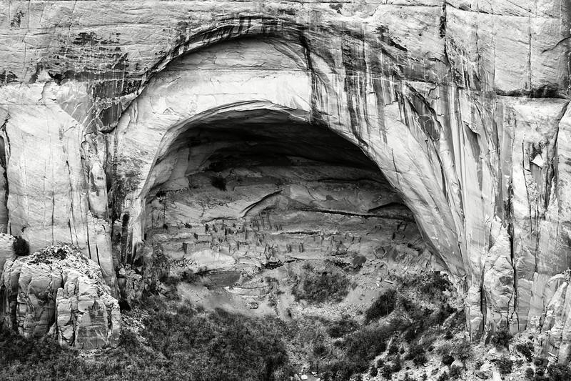 Ruine d'un village anasazi (ancêtres des indiens Pueblos) à l'intérieur d'une cavité dans le secteur de Mesa Verde. Plateau du Colorado/Colorado/USA