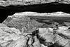 Une arche de pierre dans le secteur d'Island in the Sky à l'intérieur de Canyonlands National Park. Plateau du Colorado/Utah/USA