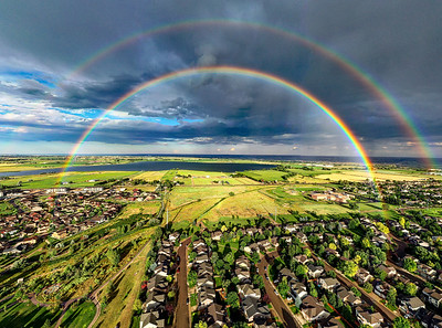 Double rainbow over Longmont