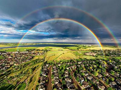 Double rainbow over Longmont