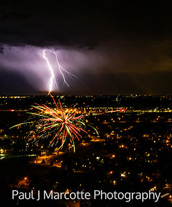 Mother nature and man made fireworks