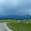 Hwy 84 scenery ~ Ah-oh, looks like rain over Pagosa Springs