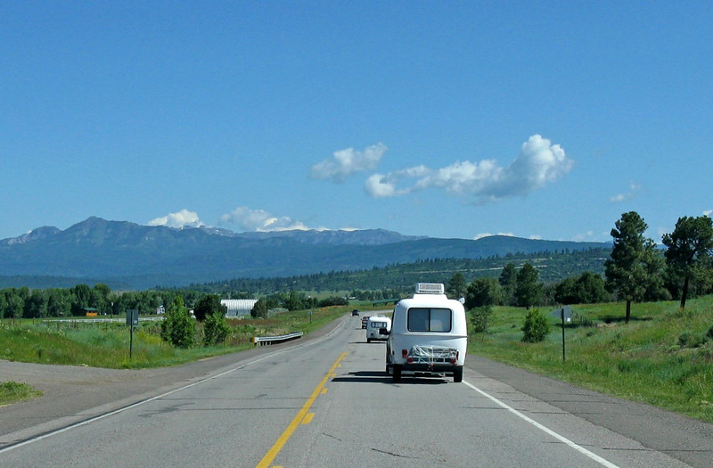 Carvaning from Heron Lake NM to Pagosa Springs CO