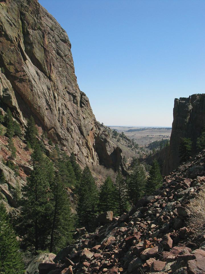 A canyon between the mountain hills (El Dorado Springs, CO)