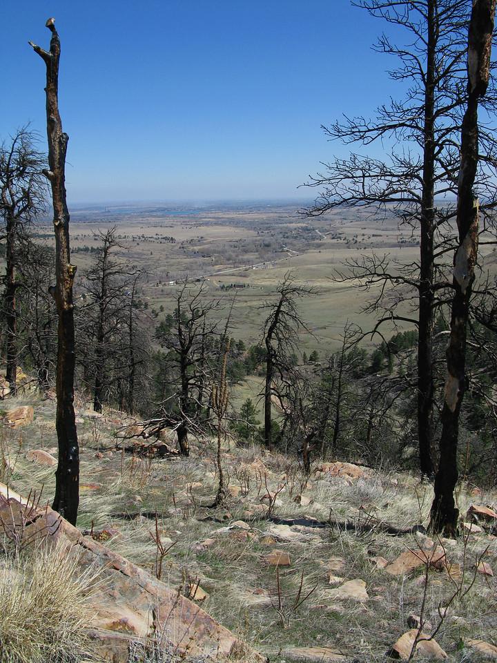 Looking over a ridge in El Dorado Springs, CO