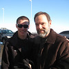 Brett & Joel at the airport on our way home