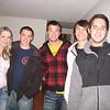Devon, Brett, Marc, Chris & Gus - dinner at our house in Nederland