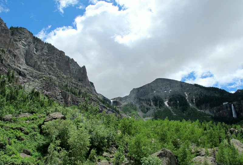 North end of Telluride; view of the waterfalls.