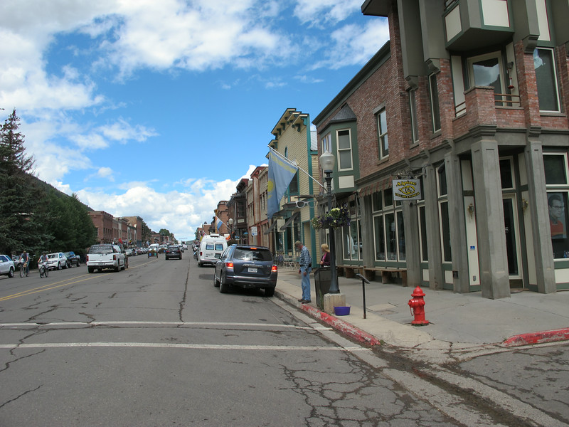 Downtown Telluride, north end. That's Jeff and Kathi standin' on the corner.