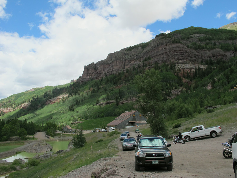 At the north end looking south toward Telluride.
