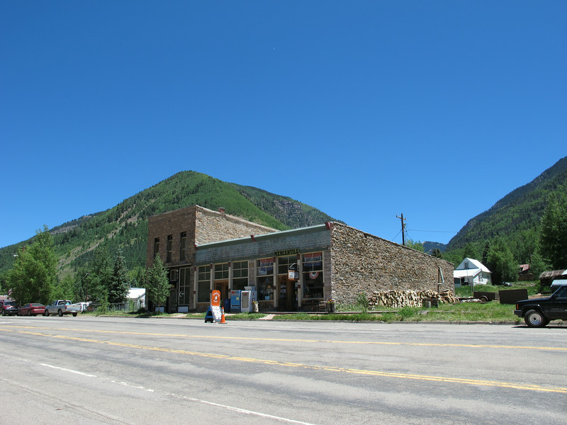 And that's the town's only grocery (mercantile) store. Very quaint.