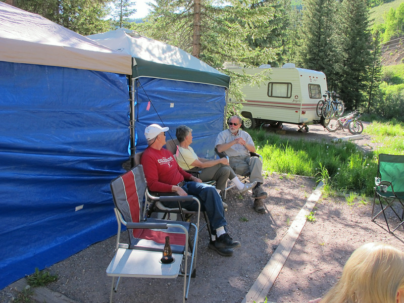 Jim T, Alice and Jeff. Hey, no alcohol is allowed in NFS campgrounds! Who's beer is that?! Oh...wait...it's mine.