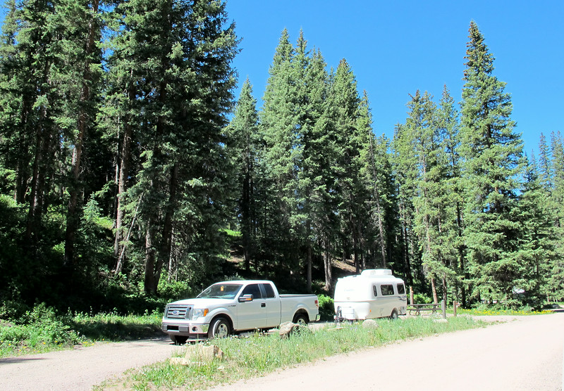 My campsite (#3, a pull thru).